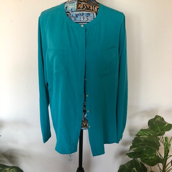Lands End Outfitters Sz 16 Long Sleeve Blouse